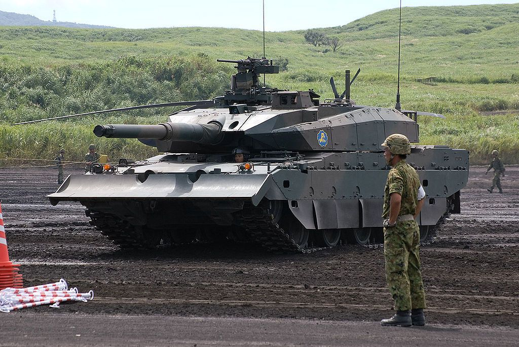 f5212d71ba0e Japanese Type 10 (10式戦車) Main Battle Tank (MBT) is designed to replace Type  74 main battle tanks in the Japan Ground Self Defense Force.