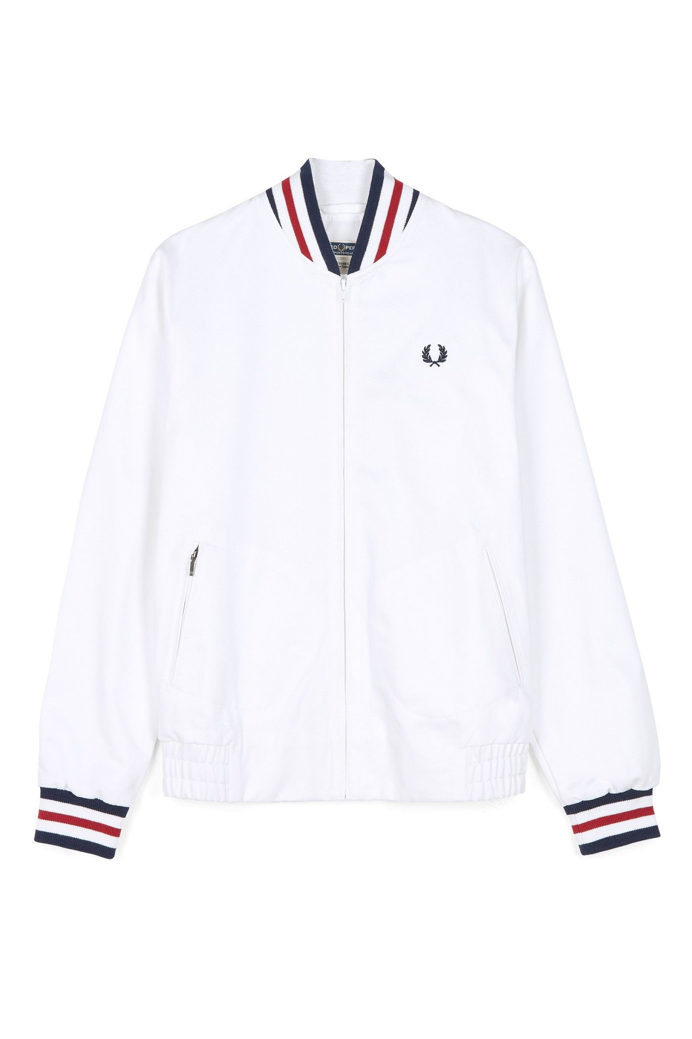 3c727232 Fred Perry - Reissues Made in England Original Tennis Bomber White ...
