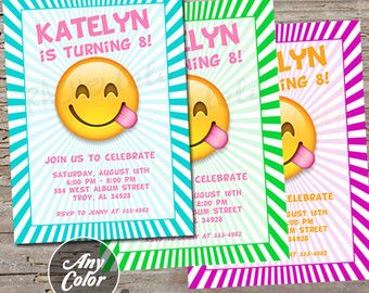 emoji birthday party invitation emoji birthday party emoji party