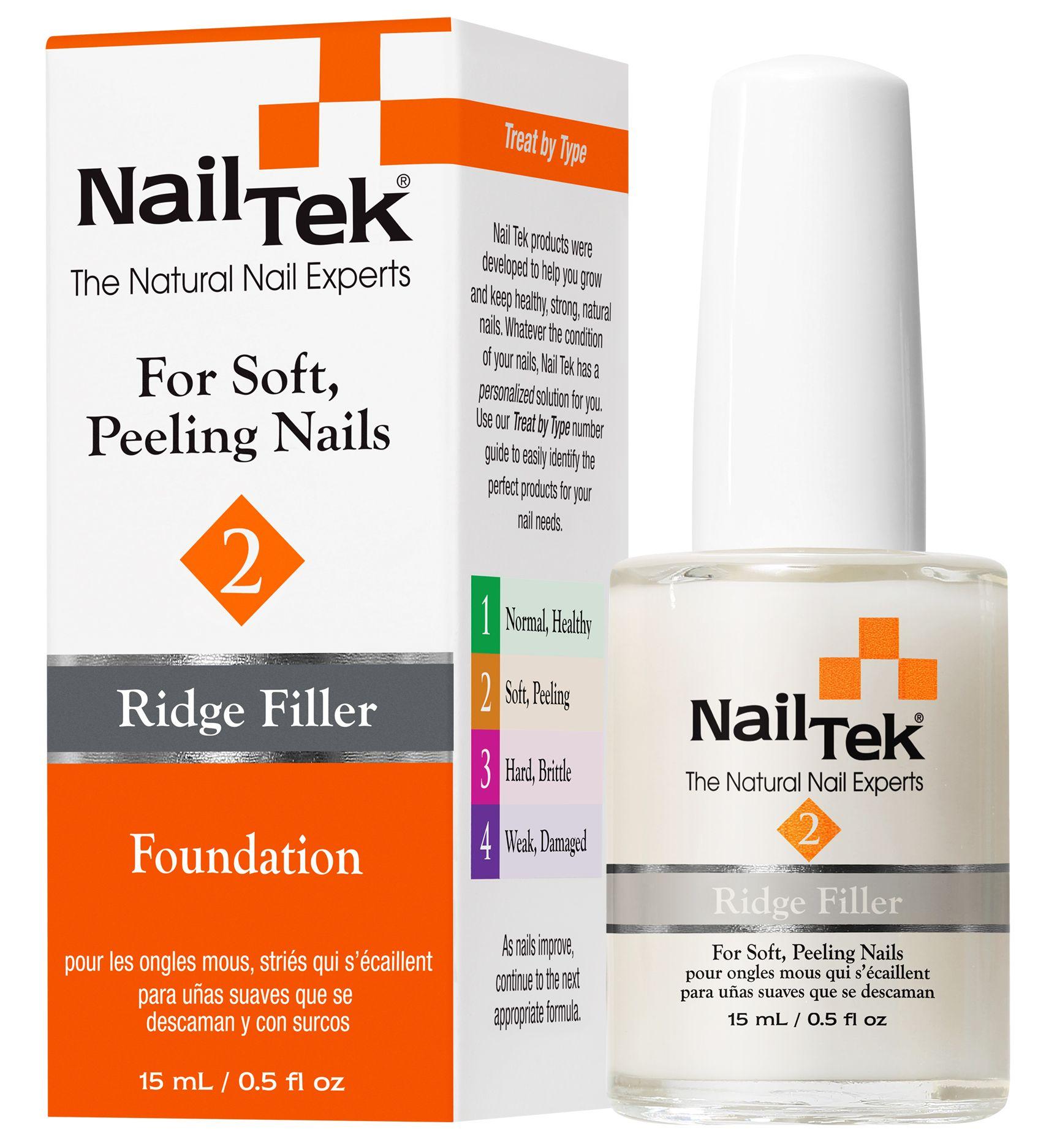 Nail Tek Foundation 2 fills unsightly ridges and nail