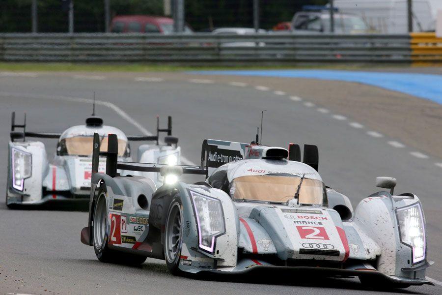 The No.2 Audi of Tom Kristensen, Allan McNish and Loic