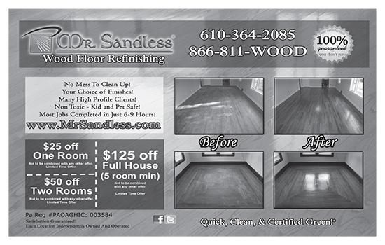Mr Sandless Wood Floor Refinishing No Mess To Clean Up Your Choice Of Finishes Save 125 When You Present This Rsvp Card 2970 Concord Rd Aston Pa