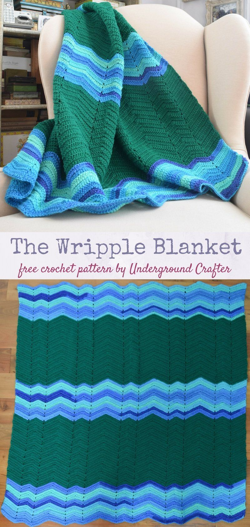 Crochet Pattern: Wripple Blanket in Red Heart Super Saver ...