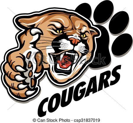 Vector - cougars mascot - stock illustration, royalty free ...