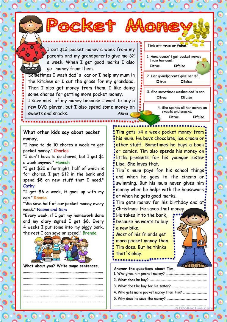 - Pocket Money (+KEY) (с изображениями) Обучение чтению письму