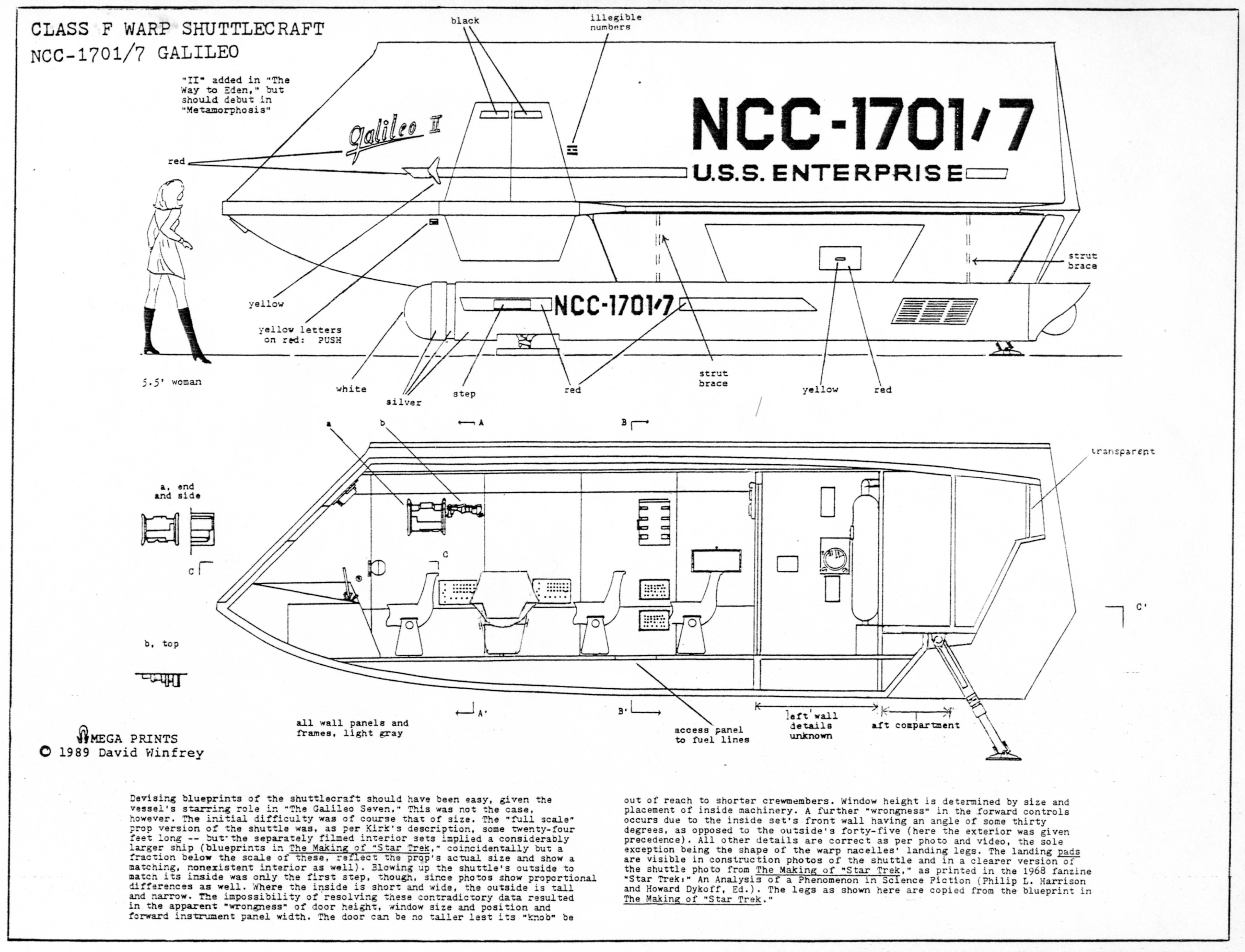 schematic of  tos  u s s  enterprise ncc