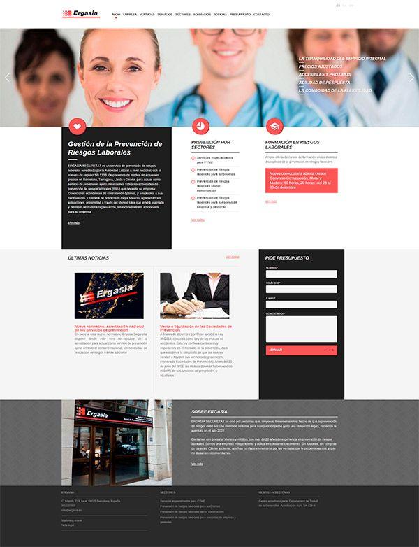 Presentamos nuevo diseño web serio, cercano y muy actual para Ergasia, empresa de prevención de riesgos laborales de Barcelona. Esperamos que os guste