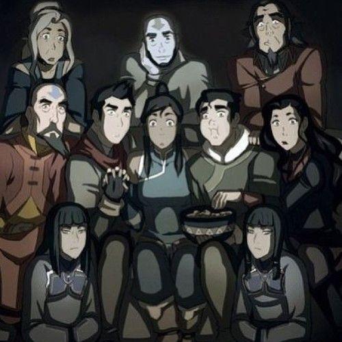 Avatar Korra Family Watching A Movie Lololol Avatar Airbender