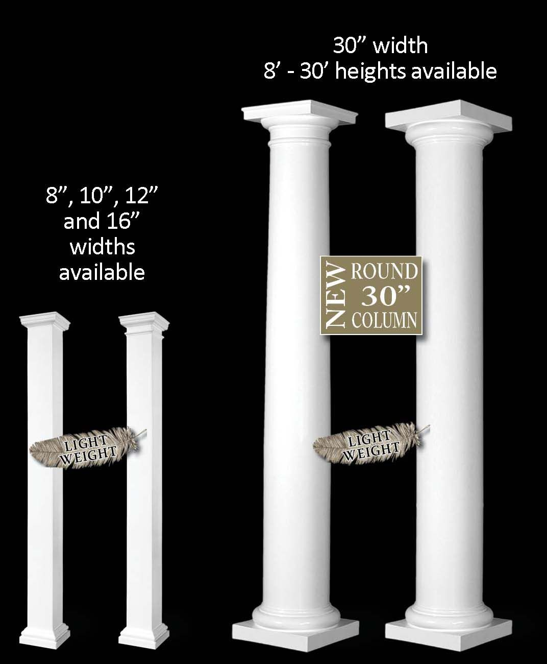Turncraft Poly Classic Frp Craftsman Duraglass Architectural Colonial Columns Column Column Lights Wood Columns