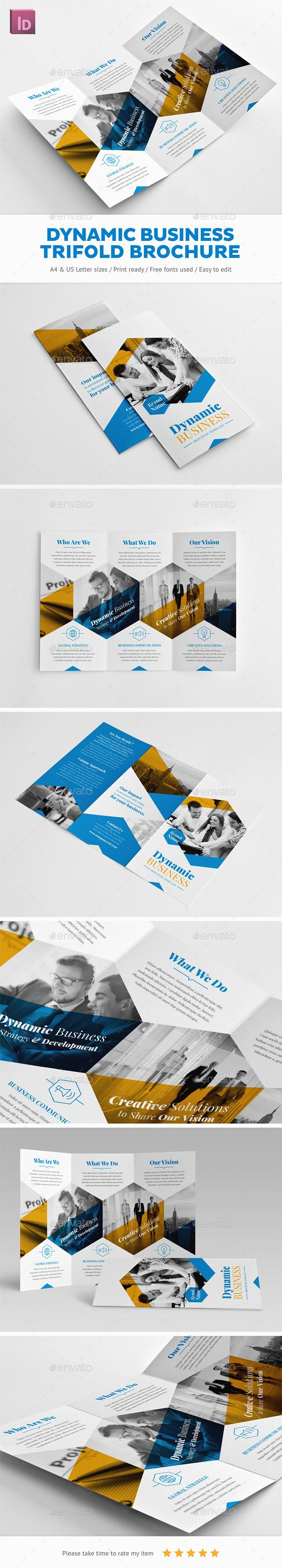 Dynamic Business Trifold Brochure | Brochure template, Brochures ...