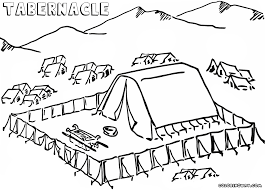Israelites Built The Tabernacle Coloring Page Google Search In 2020 Coloring Pages The Tabernacle Bible Coloring Pages