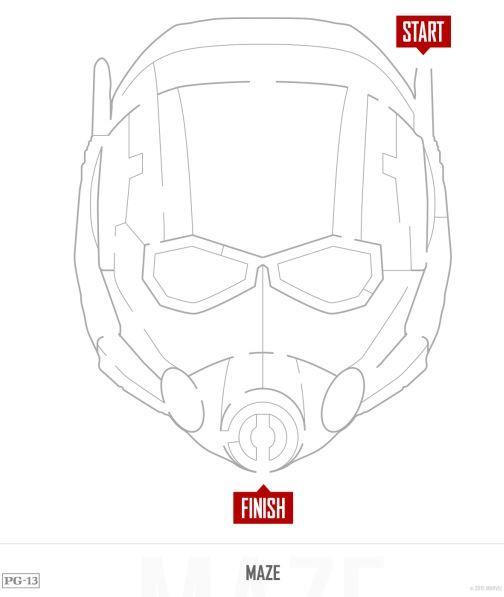 Free Ant-Man Mask & 17 AntMan Printable Activities #AntManEvent ...