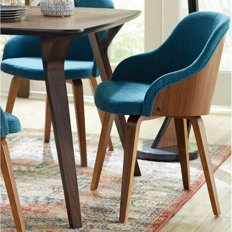 Brighton Mid Century Modern Upholstered Dining Chair Modern