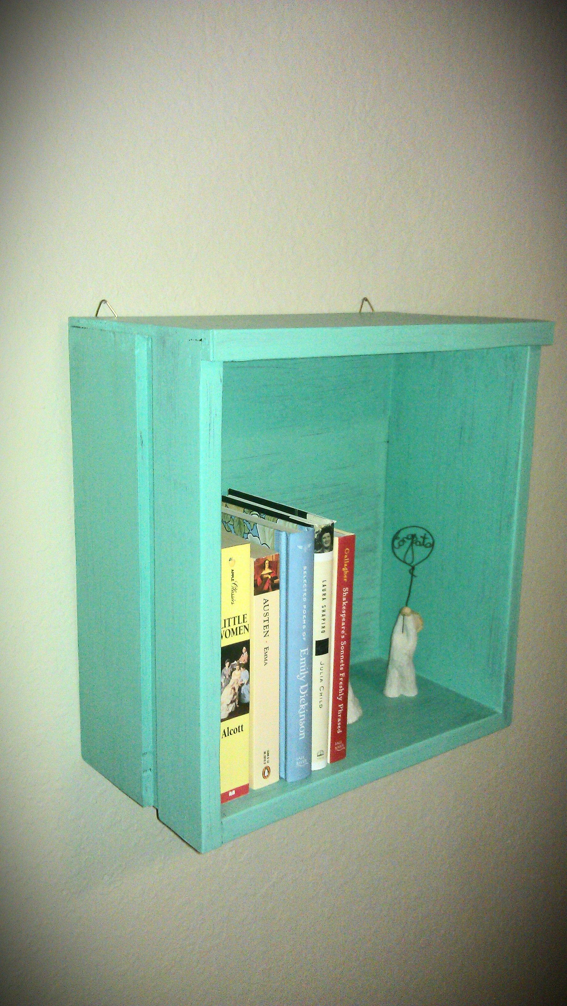 Tiny Wall Shelves Small Teal Wall Shelf 30 Hand Crafted By Me