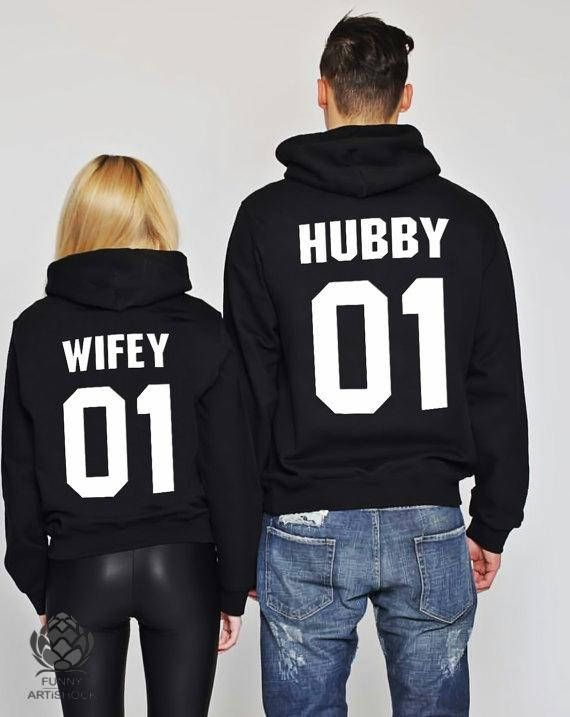 d65a026afd Hubby and Wifey set of 2 couple Sweaters Hubby Wifey Couples | Stuff ...