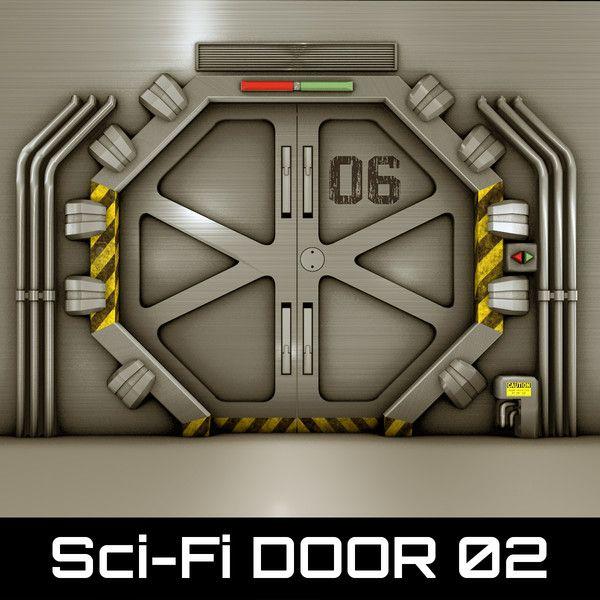 technological door 3d 3ds - Sci-Fi_DOOR_02(1)    by ODA 3D