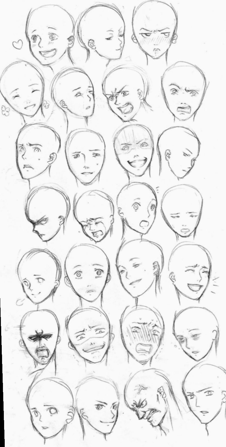 6 Anime Face Base Facial Expressions Drawing Face Expressions Drawing Expressions Facial Expressions Drawing