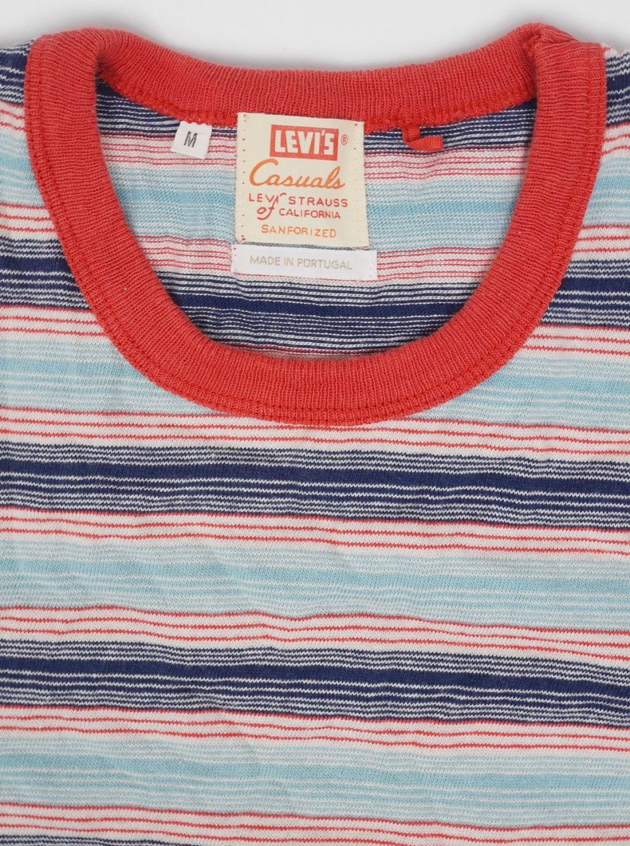 80021b913c Levis Vintage 1960s Striped T-Shirt Cameo Blue | Clothes | Fashion ...