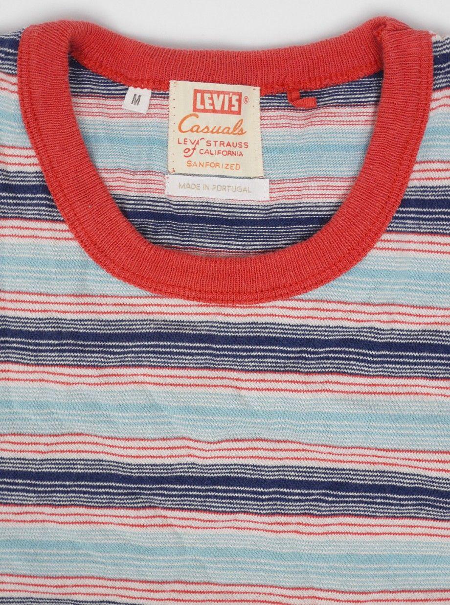 9a982c41 Levis Vintage 1960s Striped T-Shirt Cameo Blue | Clothes | Normcore ...
