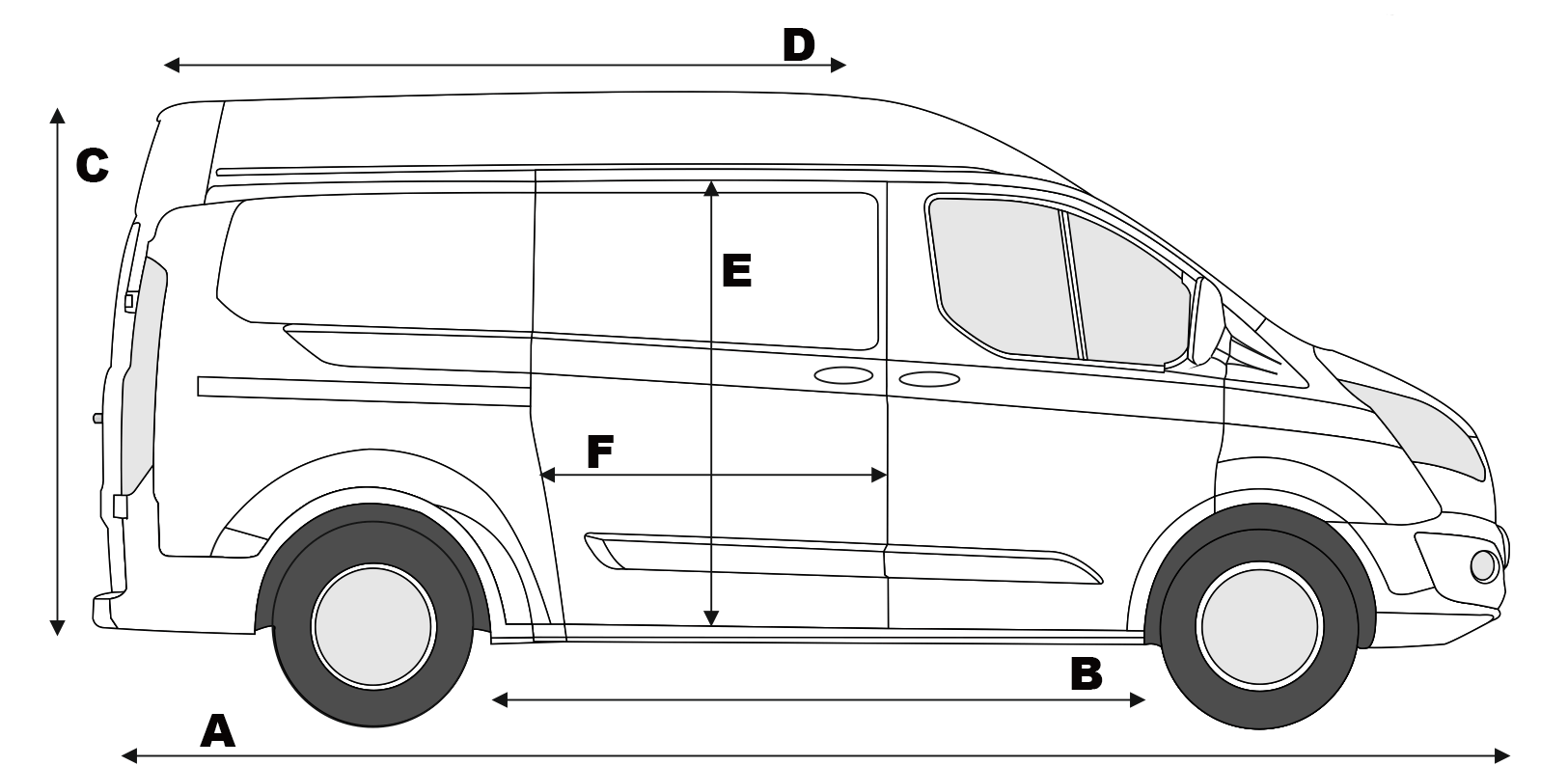Ford Transit Custom L2h2 Karavanlar
