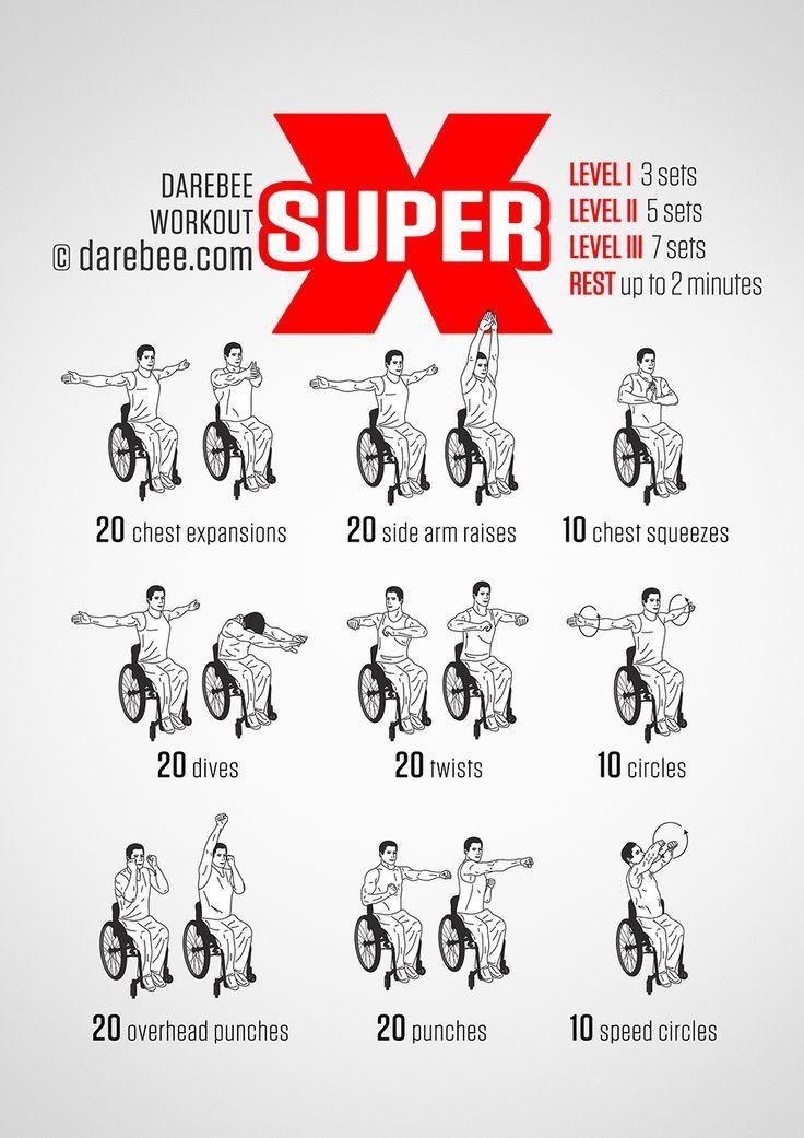 Super X Workout Wheelchair Exercises Senior Fitness Chair Exercises