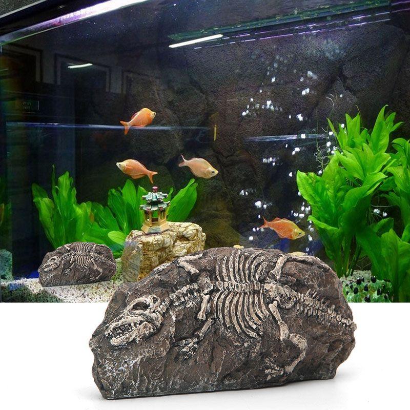 Aquarium Dinosaur Fossil Resin Cave Deep Blue Aquarium Usa Aquarium Decorations Fish Tank Fish Tank Accessories