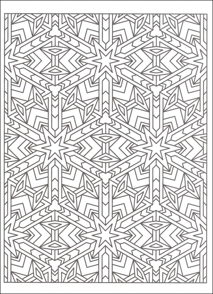 Free Tessellation Coloring Page To Print Out Geometric