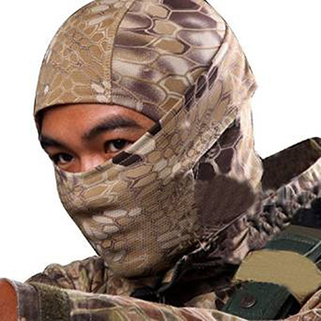 Camouflage Army Cycling Motorcycle Cap Balaclava Hats Full Face Mask Khaki