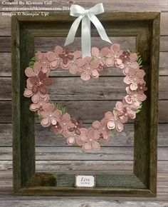 Wreath made with Botanical Builder Framelits from Stampin Up