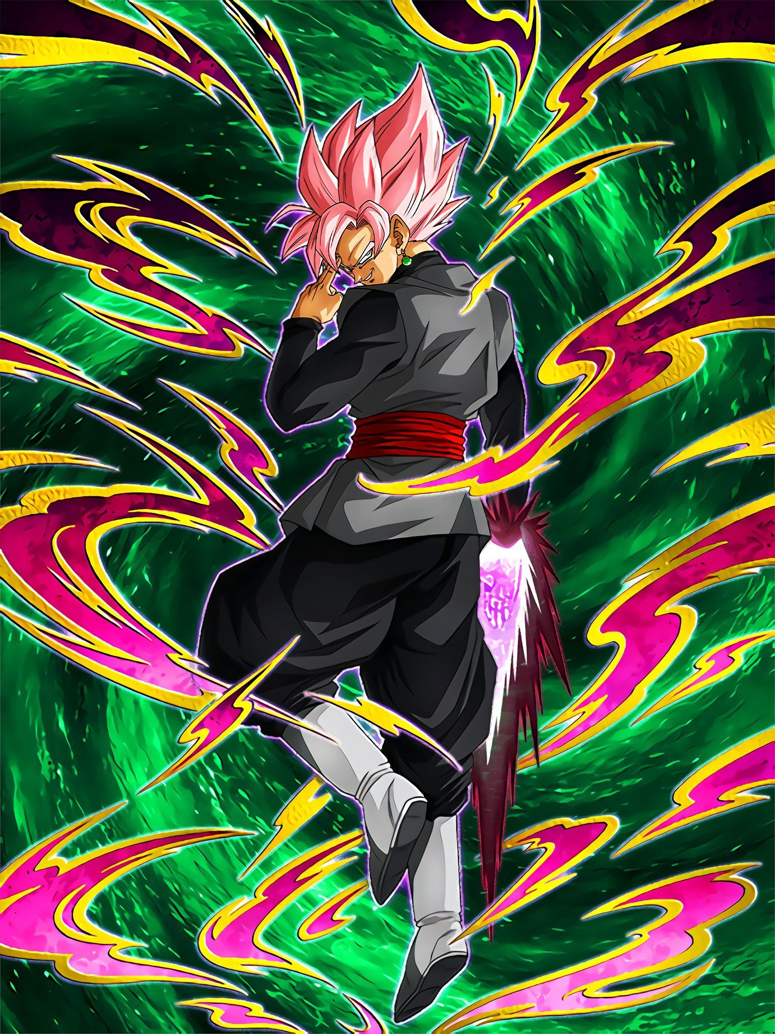New Lr Goku Black Rose Ssr Art Dokkanbattle Desire For New Power Goku Black Super Saiyan Rose Anime Dragon Ball Super Anime Dragon Ball Super Saiyan Rose
