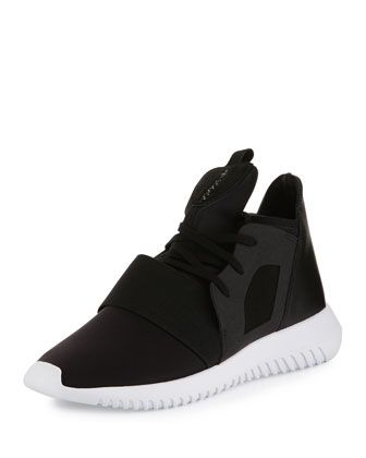 more photos cdaa1 8a022 Tubular Defiant High-Top Sneaker, Core Black Running White by Adidas at  Neiman Marcus.