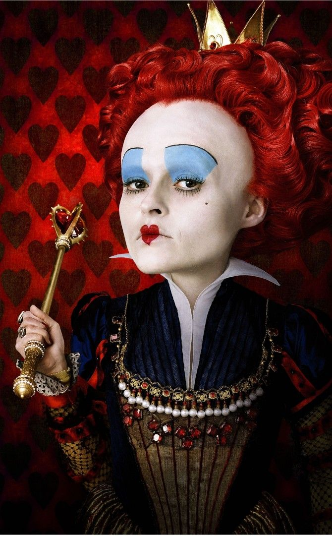 Helena Bonham Carter as Red Queen in Tim Burton's Alice in Wonderland.