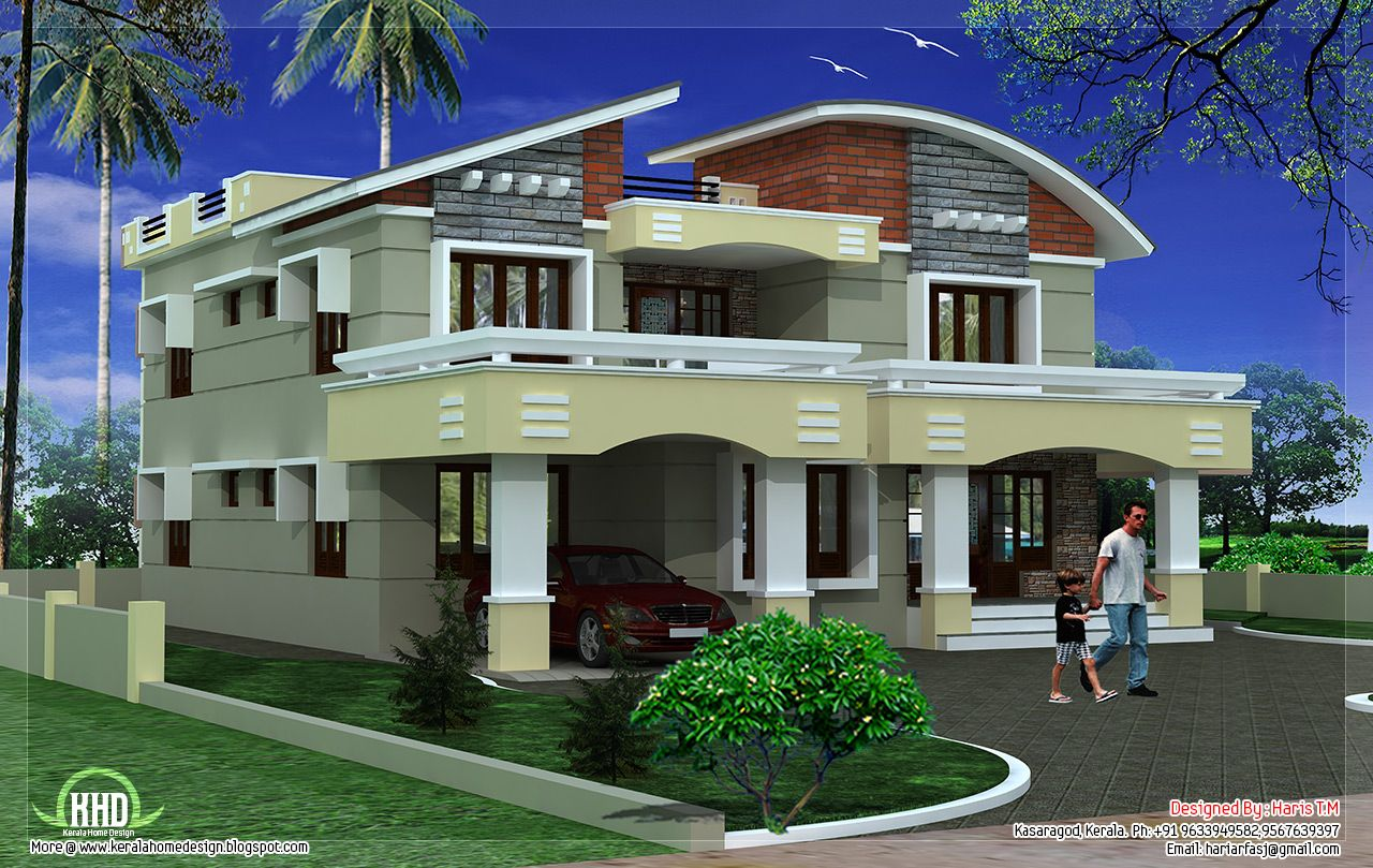 Kerala home design box type be sweet home pinterest for Luxury house plans with photos of interior