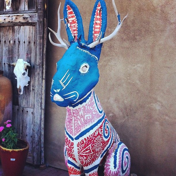 This is so close to being a jackalope with sugar skull or Day of the Dead details! J'adore!