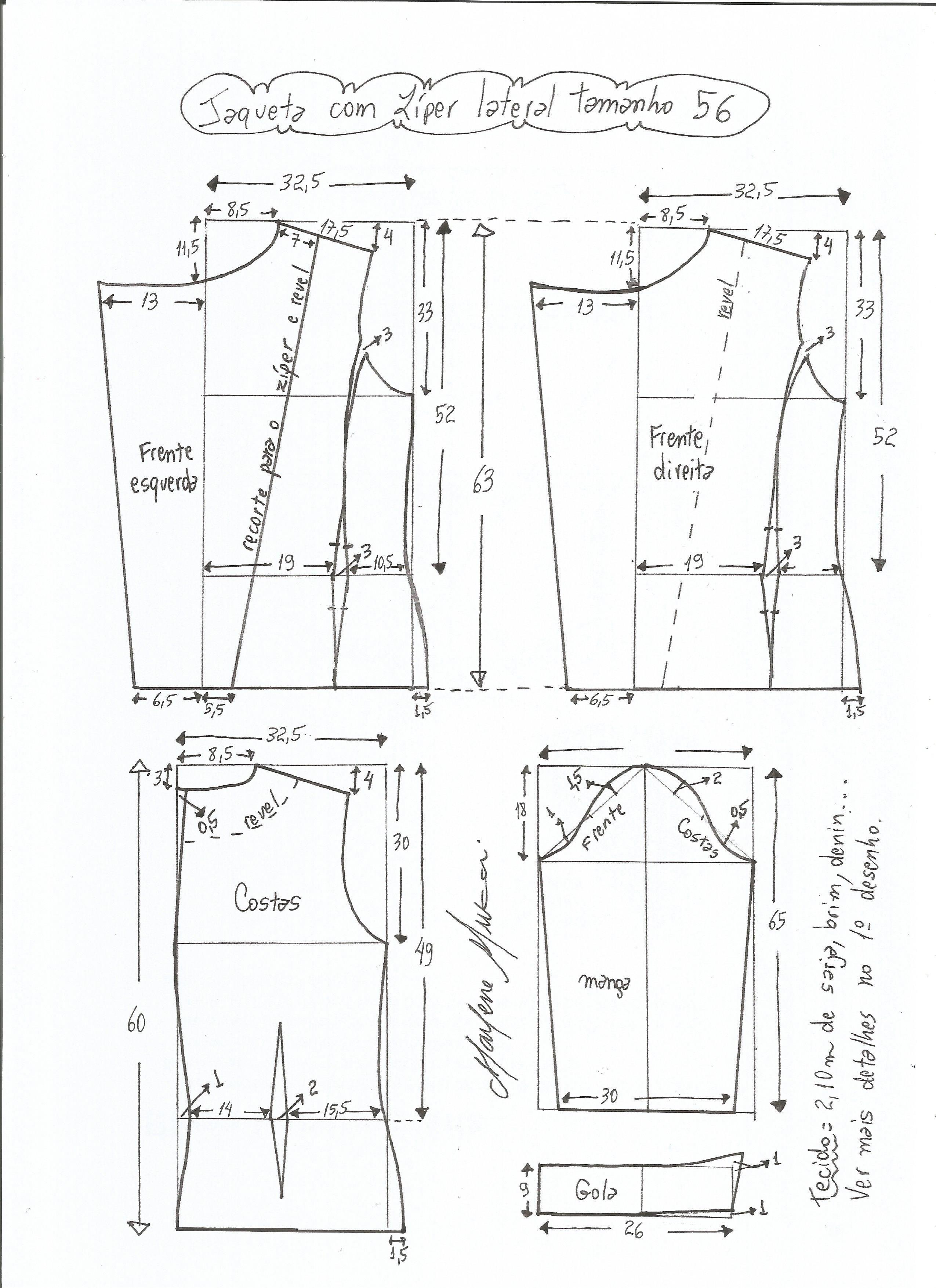 Patrón de chaqueta clásica | Labores | Pinterest | Patrón de ...