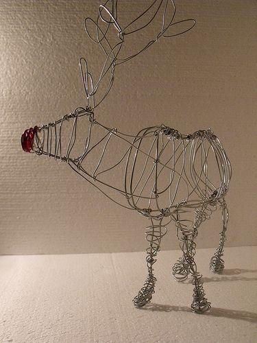 wire reindeer silver