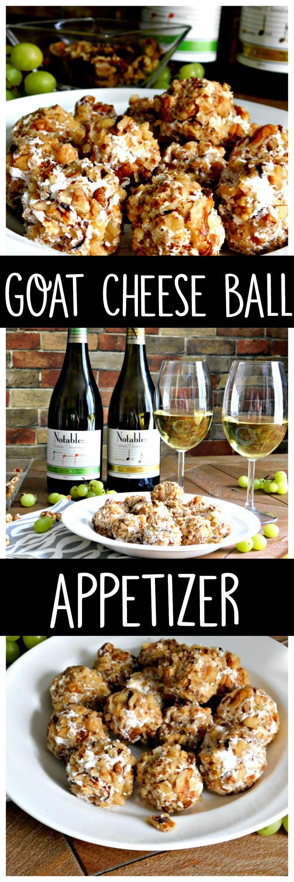 Grape And Goat Cheese Ball Appetizer Wine Pairing #Appetizer #Summerappetizer