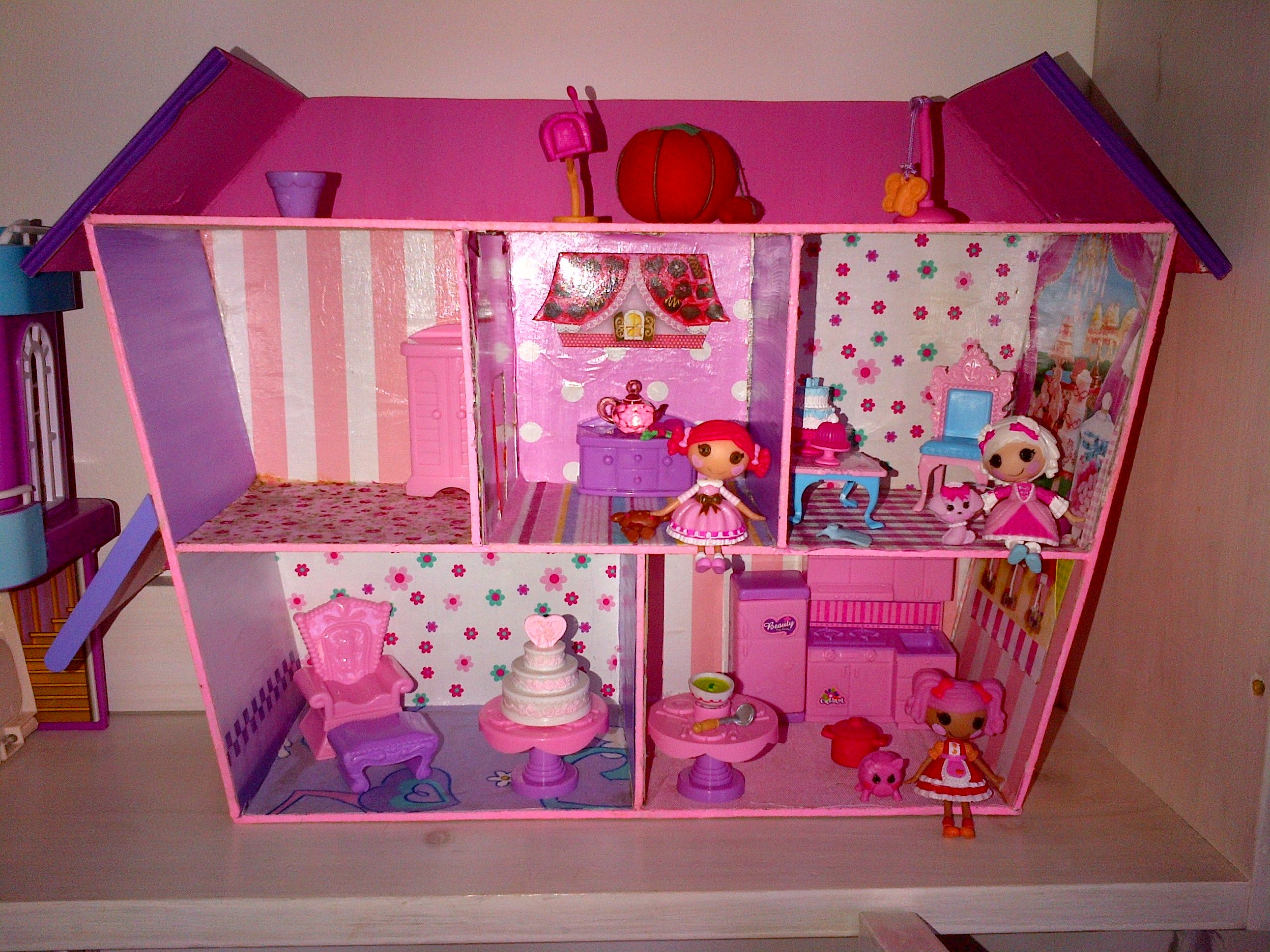 Homemade Lalaloopsy Doll House! #dollhouse #lalaloopsy