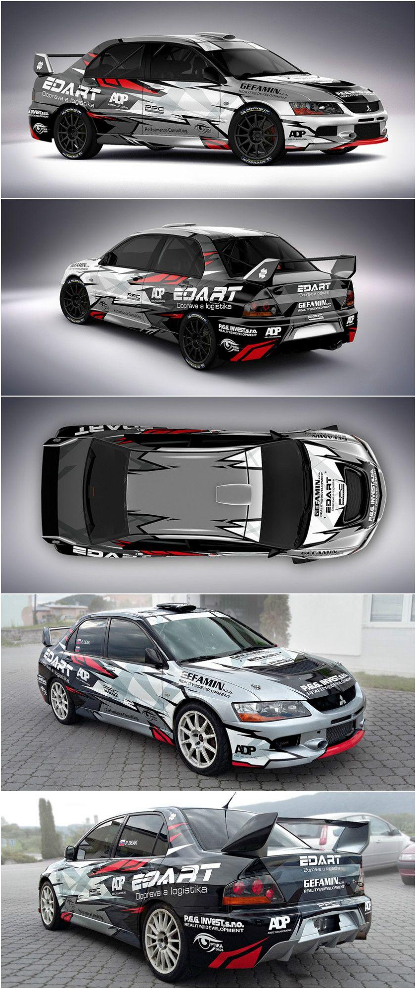 Viva car sticker design - Design And Wrap Of Mitsubishi Lancer Evo Ix For Slovak Xiqio Racing Team
