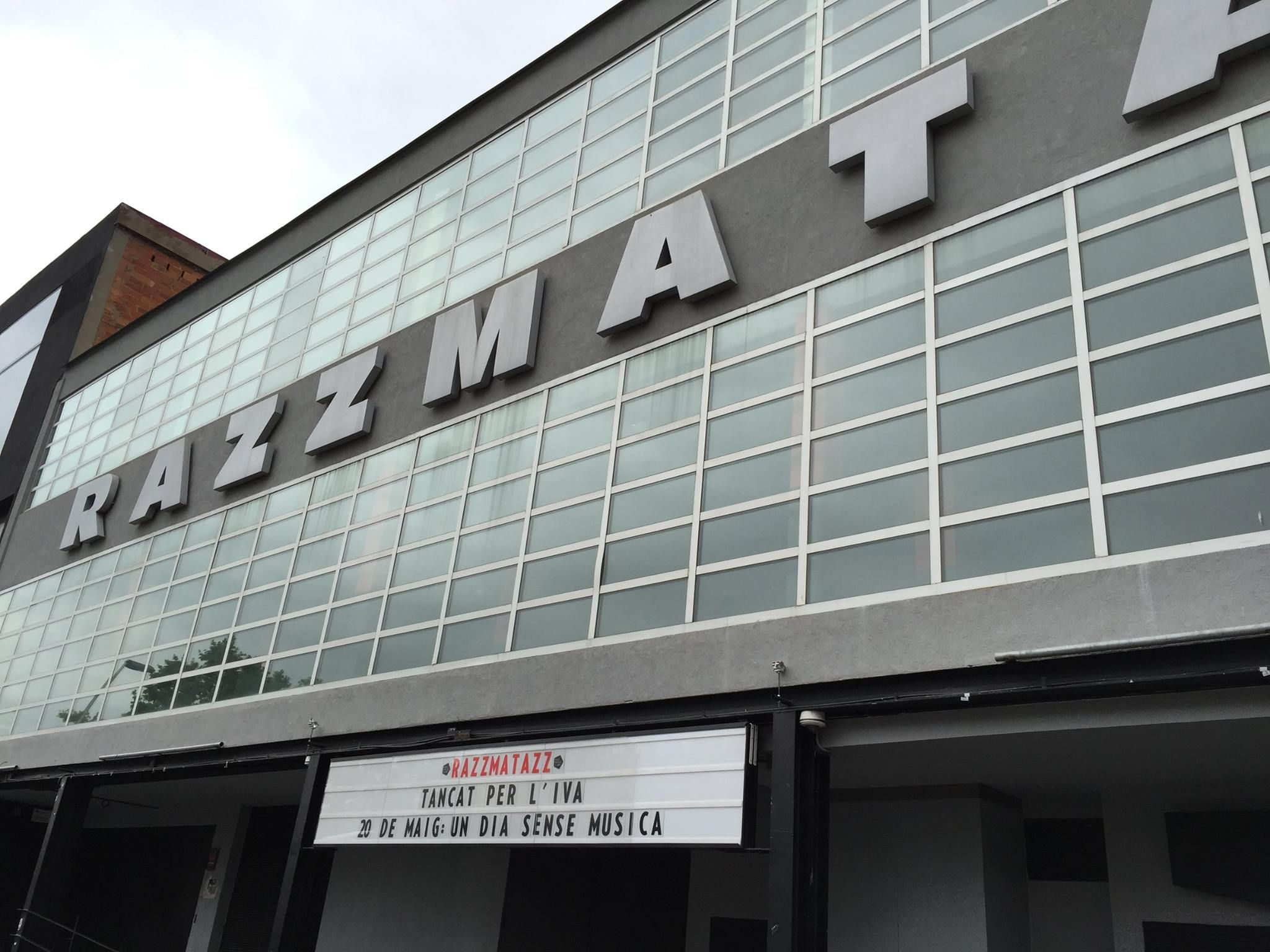 La sala Razzmatazz permanecerá hoy cerrada. #undiasinmusica