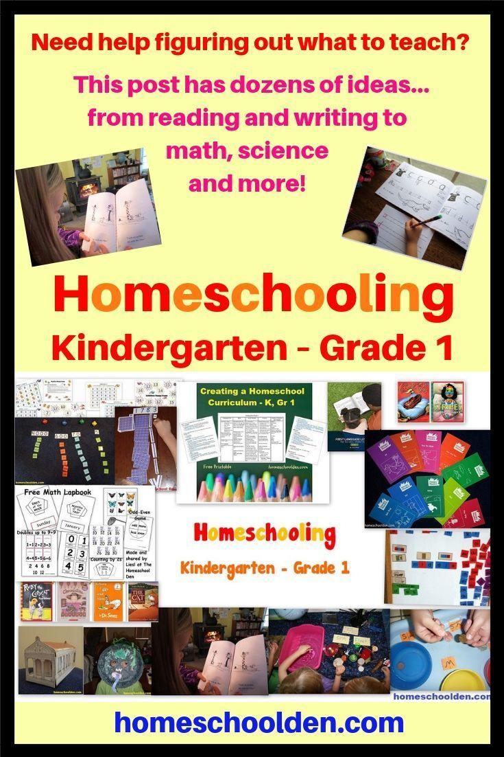 Homeschooling Kindergarten Grade 1 Homeschool