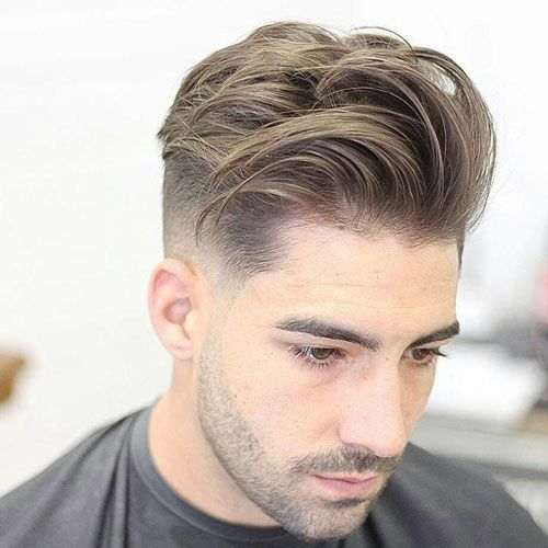 Men S Hairstyles Low Fade With Long Textured Comb Over