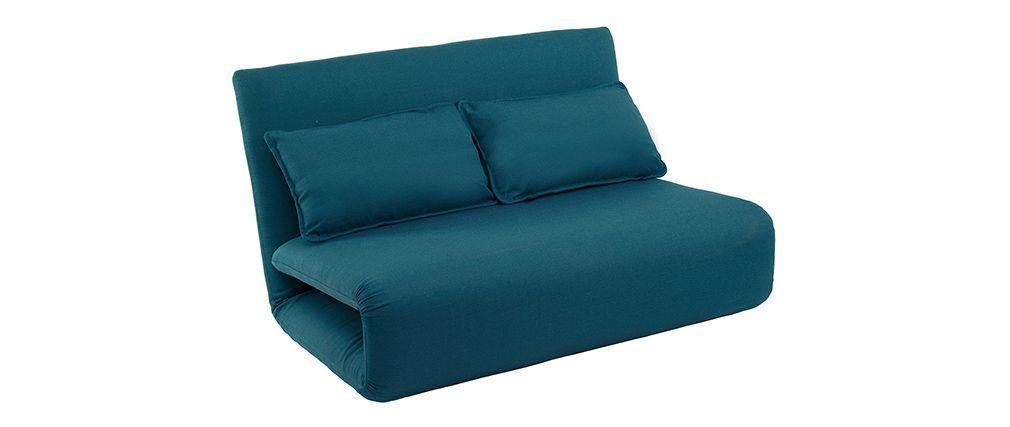 Chauffeuse Convertible 2 Places Design Bleu Sleeper Miliboo Design Bleu Chauffeuse Convertible 2 Places