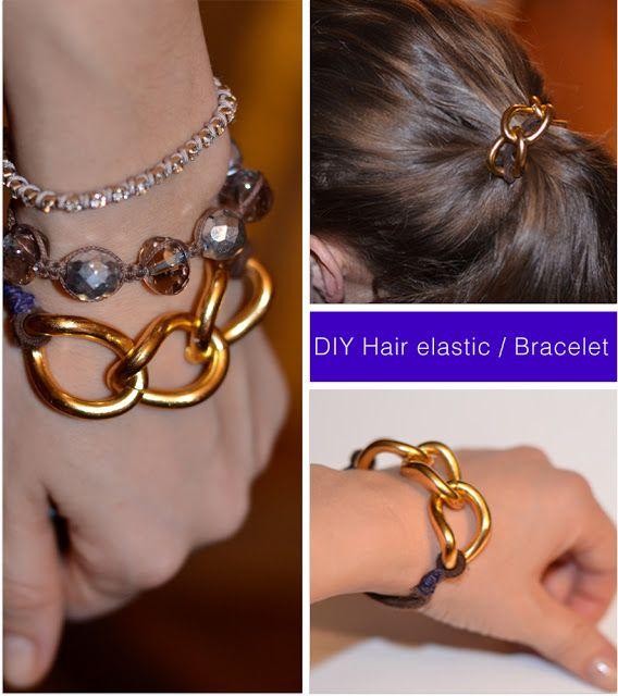 make it & fake it: DIY Hair Elastic / Bracelet