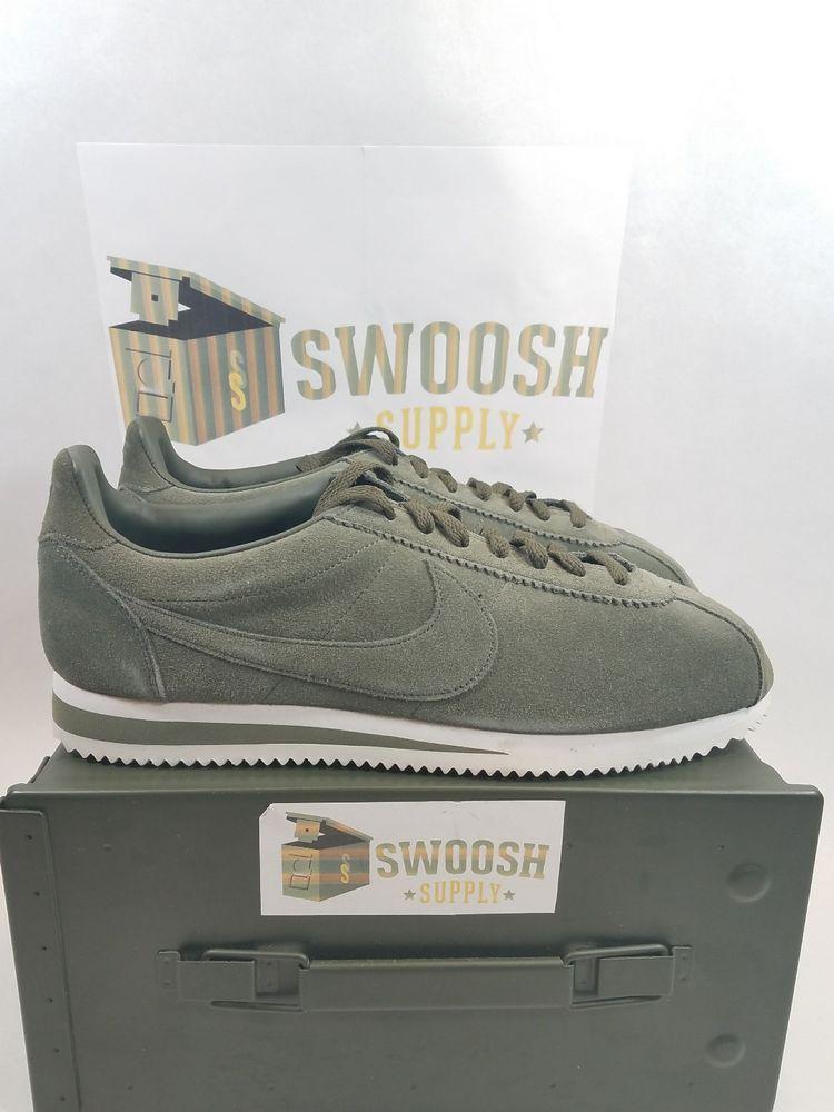 01431eda45 Nike Cortez Classic CARGO KHAKI OLIVE GREEN SUEDE 902801-300 10.5 FORREST  GUMP #Nike #Cortez