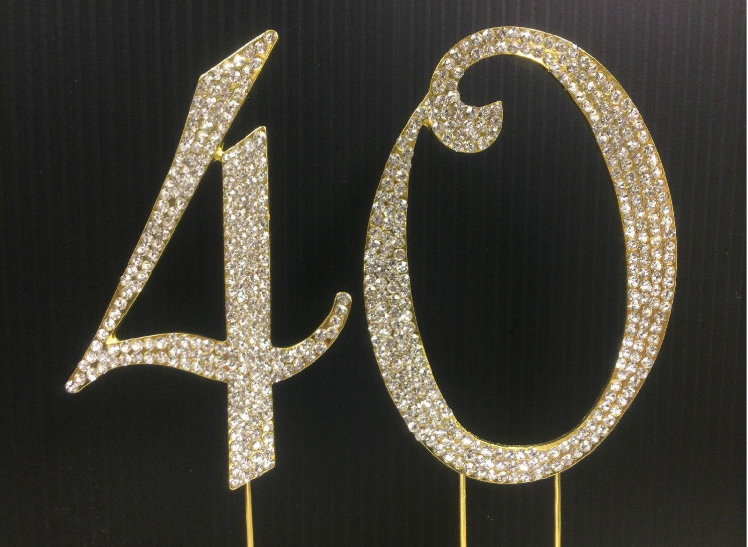 40 number cake topper Google Search Pink and Gold Jeweled Cake