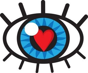 vision clipart image eye with heart in the pupil symbolizing a rh pinterest ca vision screening clipart vision clipart
