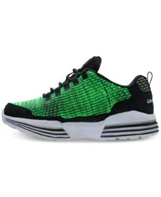 416b0d75831a Skechers Little Boys  S Lights  Luminators Light-Up Athletic Sneakers from  Finish Line - BLACK LIME 1