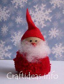 Lavoretti Di Natale Babbo Natale.Lavoretti Di Natale Realizzate Babbo Natale Con Un Pom Pom
