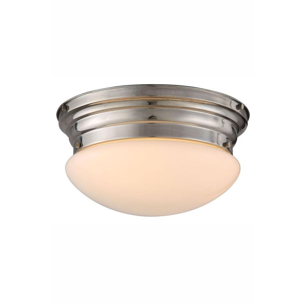 Elegant Lighting Daisy 3-Light Polished Nickel Flush Mount
